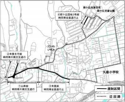 山岸線(寺里)ほか交通規制図