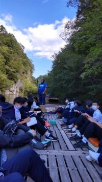 修学旅行2(猊鼻渓舟下り)