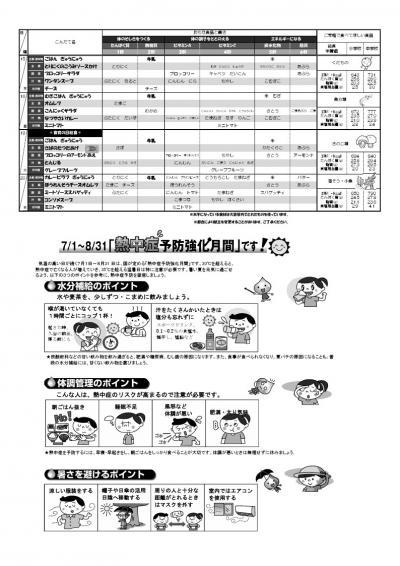 山形地区給食献立表(令和3年7月)2