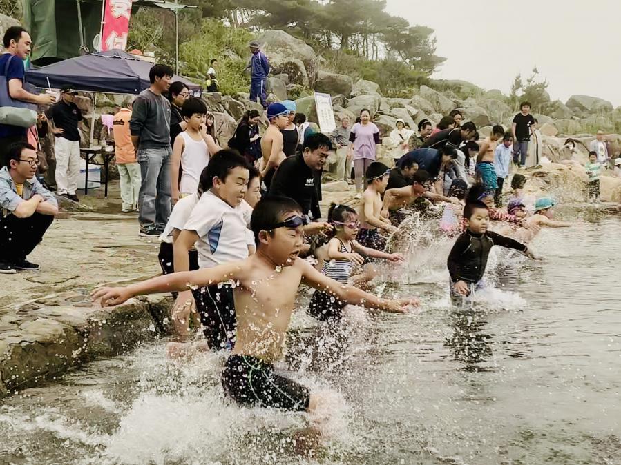 侍浜海水プール開き.JPG