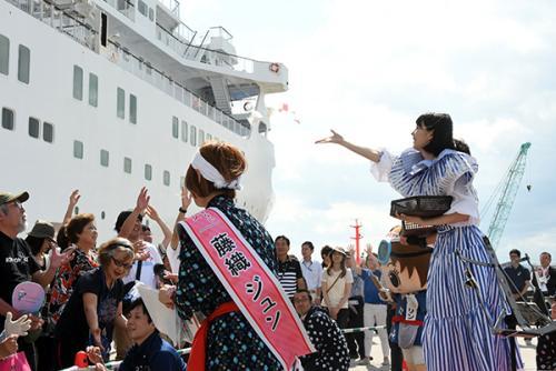 画像:三陸鉄道全線開通イベント
