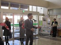 画像:リトアニア大使が久慈市を訪れました