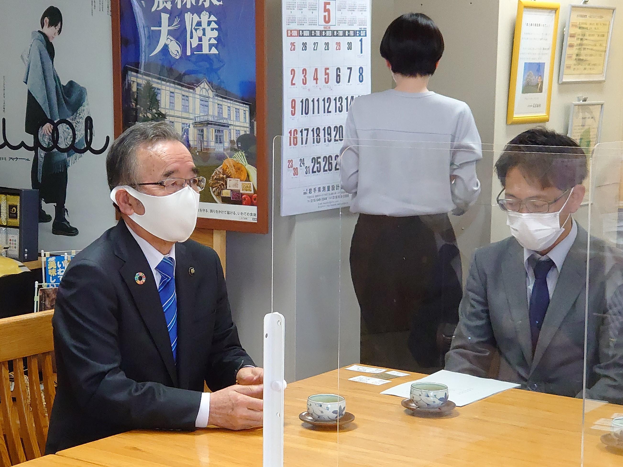 画像:農業政策に係る要望を岩手県に対して行いました。