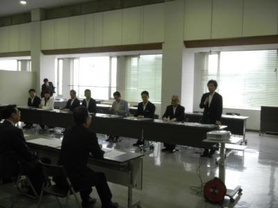 画像:民主党東日本大震災復旧・復興推進本部視察
