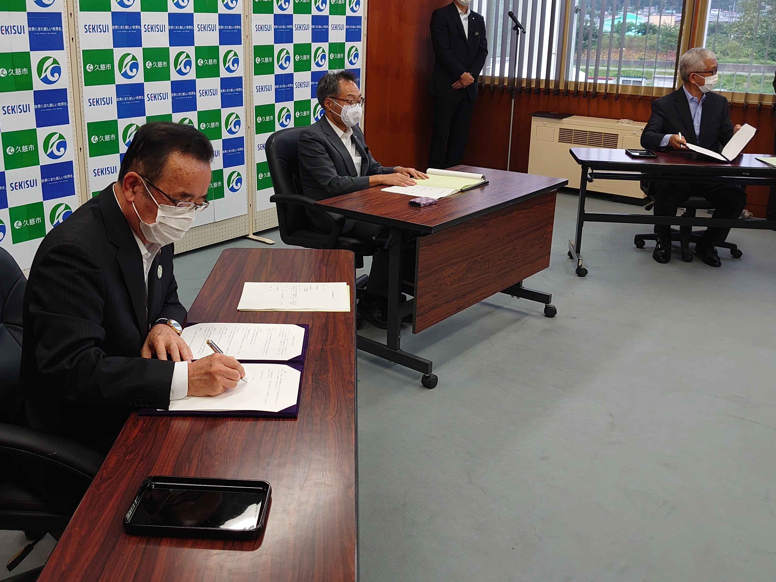 画像:積水バイオリファイナリー株式会社との立地協定調印式を執り行いました。