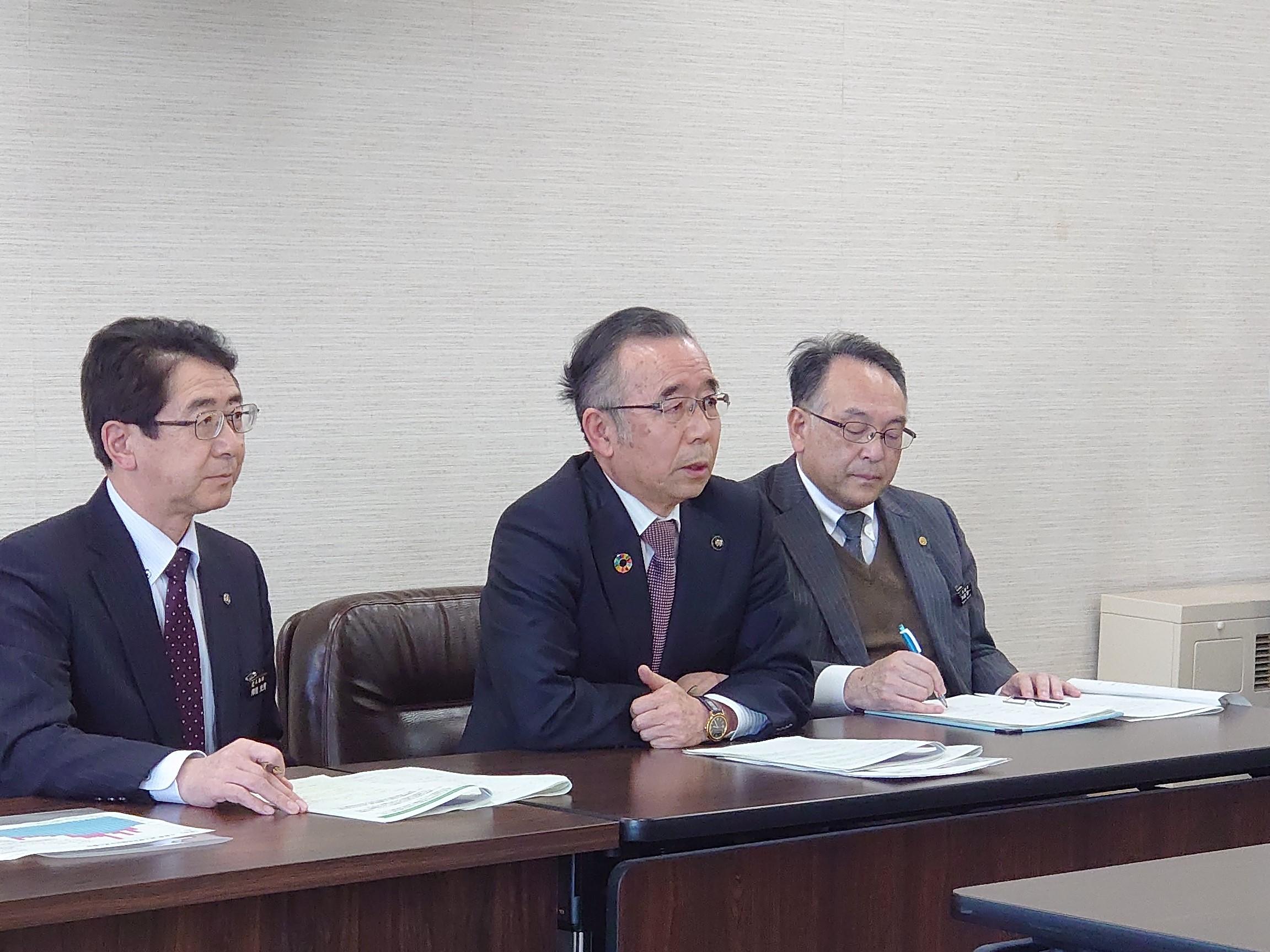 画像:二級河川長内川及び小屋畑川に関する要望を東北地方整備局に対しオンラインで行いました。