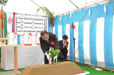 画像:久慈川・夏井川築堤護岸改築工事安全祈願祭