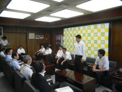 画像:長内中学校柔道部