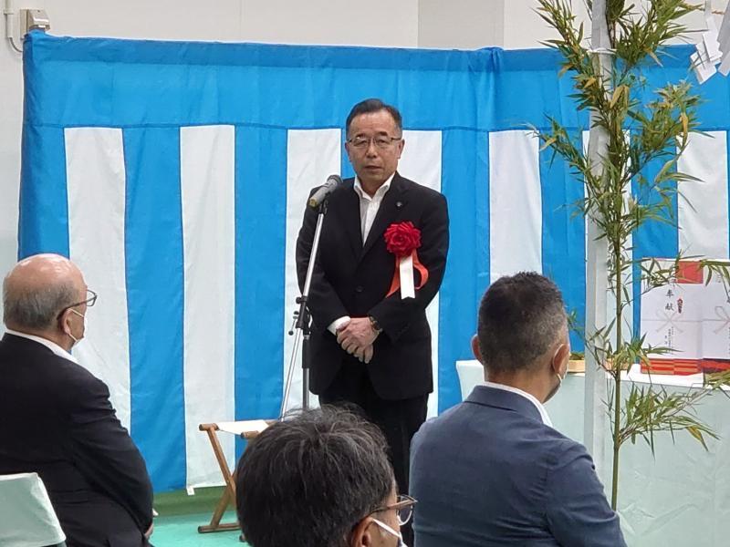 株式会社十文字丸善スープ竣工式における市長挨拶