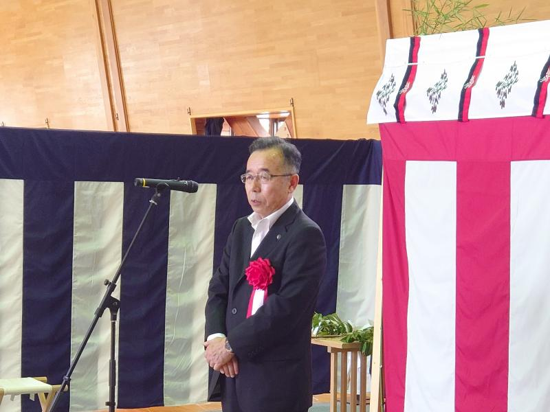 積水バイオリファイナリー株式会社安全祈願祭における市長挨拶