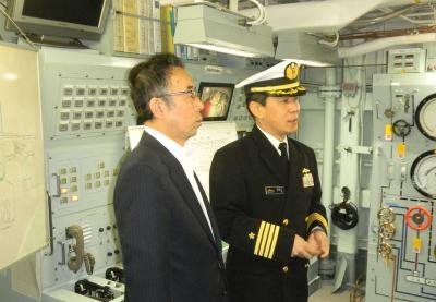 画像:潜水艦救難母艦ちよだ