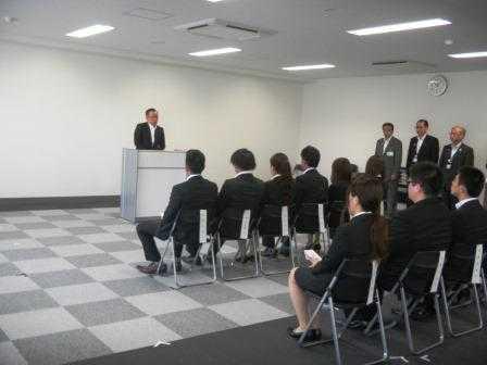 画像:新卒者雇用支援奨励金贈呈式