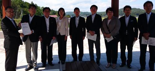 画像:衆議院東日本大震災復興特別委員会の視察がありました。